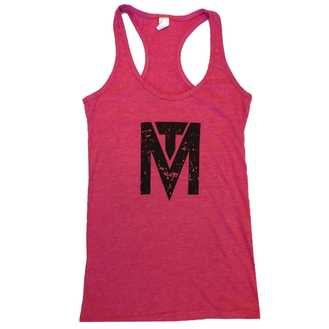 Michael Tyler Heather Fuchsia Racerback Tank