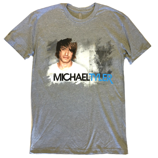 Michael Tyler Heather Grey Photo Tee